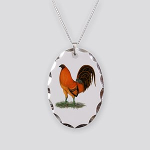 Gamecock Ginger Red Rooster Necklace Oval Charm