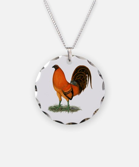 Gamecock Ginger Red Rooster Necklace