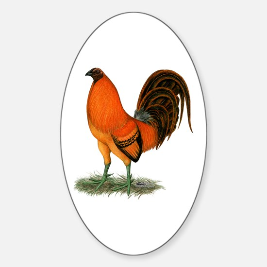 Gamecock Ginger Red Rooster Decal