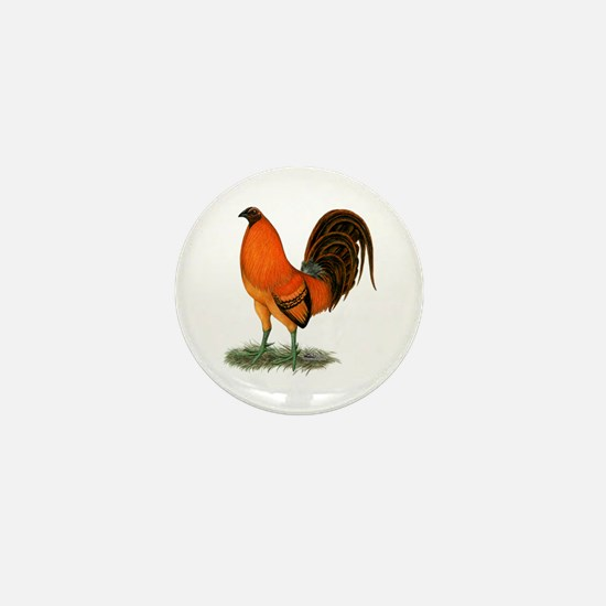 Gamecock Ginger Red Rooster Mini Button
