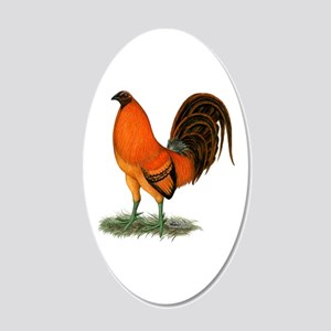 Gamecock Ginger Red Rooster 20x12 Oval Wall Decal