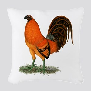 Gamecock Ginger Red Rooster Woven Throw Pillow