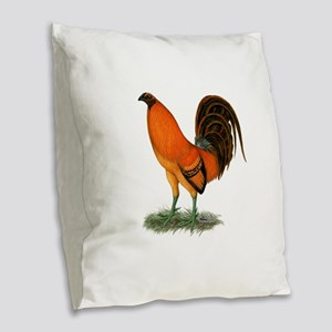 Gamecock Ginger Red Rooster Burlap Throw Pillow