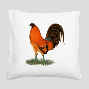 Gamecock Ginger Red Rooster Square Canvas Pillow