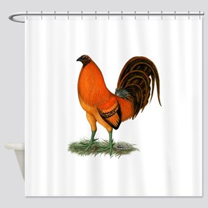 Gamecock Ginger Red Rooster Shower Curtain