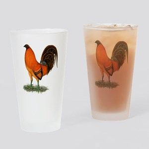 Gamecock Ginger Red Rooster Drinking Glass