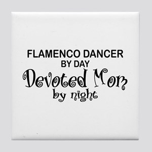 Flamenco Dancer Devoted Mom Tile Coaster