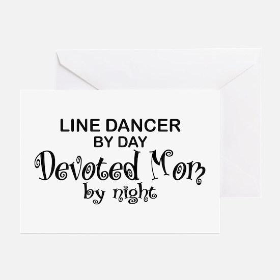 Line Dancer Devoted Mom Greeting Cards (Pk of 10)