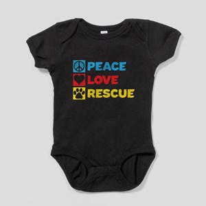 Peace.Love.Rescue. Baby Bodysuit