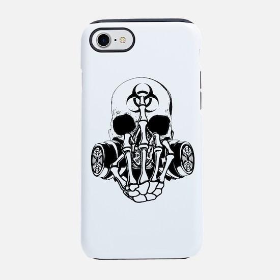 Biohazard Zombie Skull Fuck U iPhone 8/7 Tough Cas