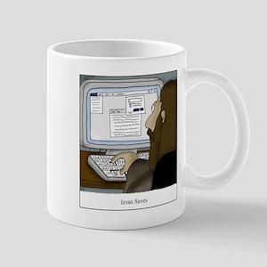 Jesus Saves Command-S Computer C 11 oz Ceramic Mug