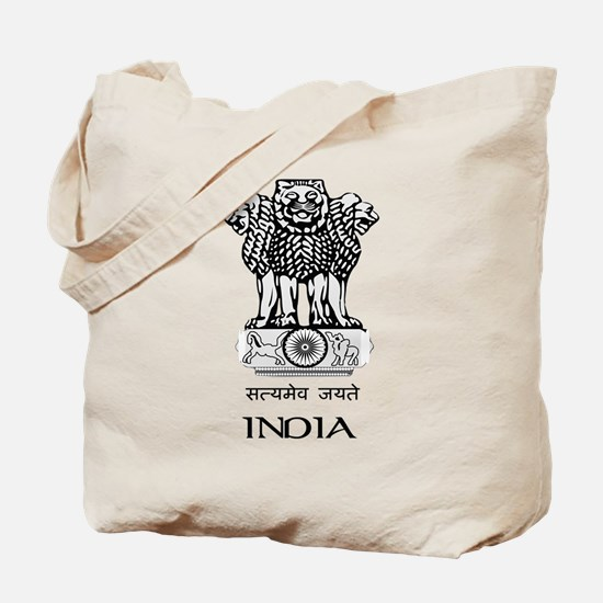 Emblem of India Tote Bag