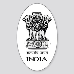 Emblem of India Oval Sticker