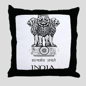 Emblem of India Throw Pillow