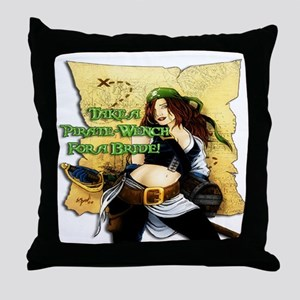 Sexy Pirate Wench Throw Pillow