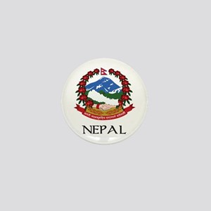 Nepal Coat of Arms Mini Button