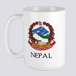 Nepal Coat of Arms Large Mug