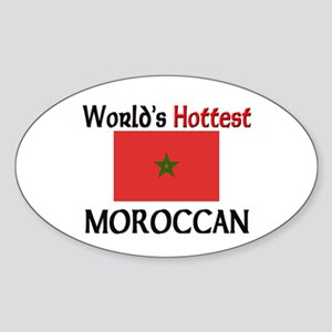 World's Hottest Moroccan Oval Sticker