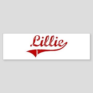 Lillie (red vintage) Bumper Sticker