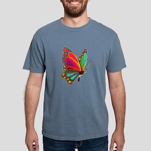 Rainbow Butterfly Ash Grey T-Shirt