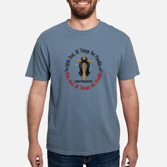 With God Cross Melanoma T-Shirt