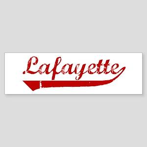 Lafayette (red vintage) Bumper Sticker