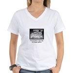 Happy Quilter - Messy House Women's V-Neck T-Shirt