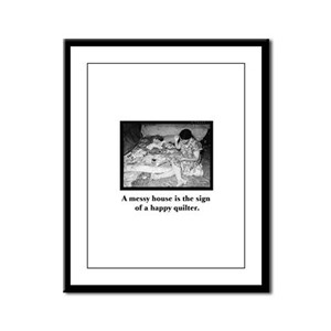 Happy Quilter - Messy House Framed Panel Print