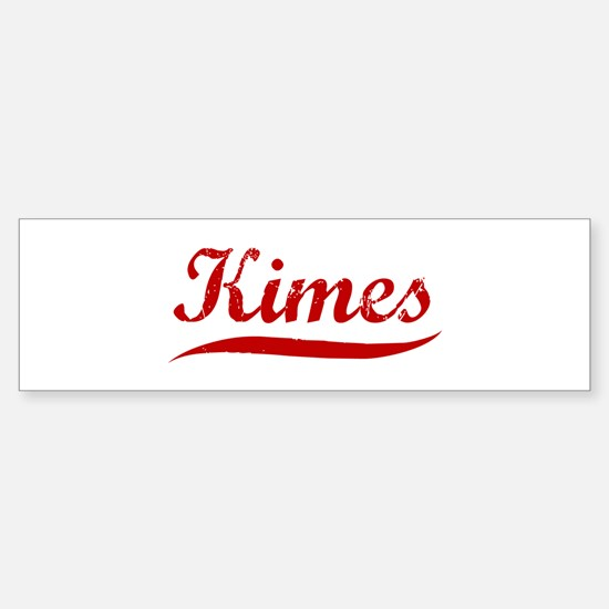 Kimes (red vintage) Bumper Bumper Bumper Sticker