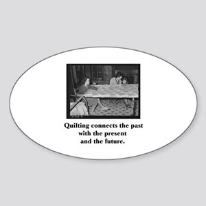 Quilting Family Legacy Oval Sticker
