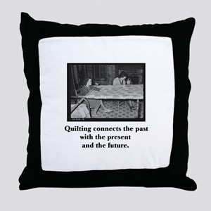 Quilting Family Legacy Throw Pillow
