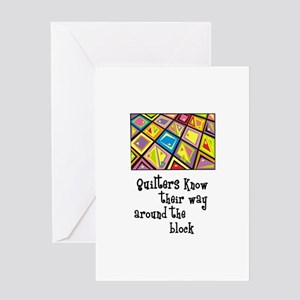 Quilters - Around the Block Greeting Card