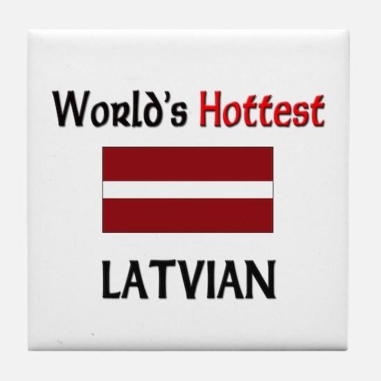 World's Hottest Latvian Tile Coaster