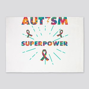 Autism autism is my superpower 5'x7'Area Rug