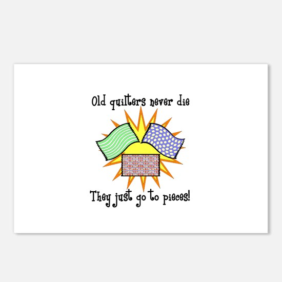Old Quilters - Go To Pieces Postcards (Package of