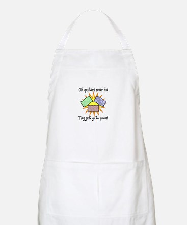 Old Quilters - Go To Pieces BBQ Apron