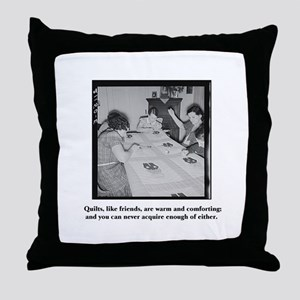 Quilts Like Friends Throw Pillow
