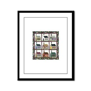 Quilting - Colorful Church Qu Framed Panel Print