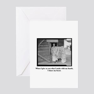 Sewing - From My Hands, My He Greeting Card