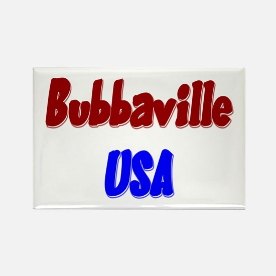 Bubba Ville USA Patriotic Rectangle Magnet