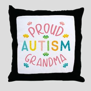 Autism Proud Grandma Throw Pillow