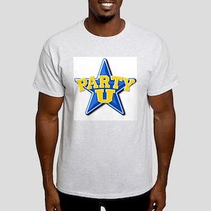 """""""Party U/BlueStar"""" Ash Grey T-Shirt"""