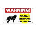 Belgian Sheepdog On Guard Banner