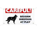 Belgian Sheepdog At Play Banner