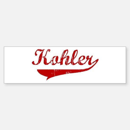 Kohler (red vintage) Bumper Bumper Bumper Sticker