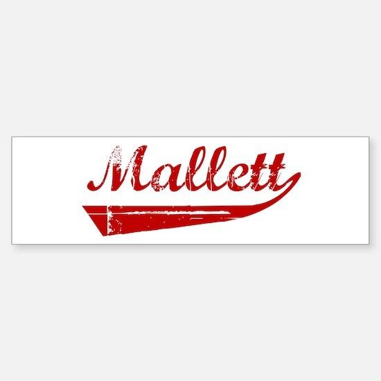 Mallett (red vintage) Bumper Bumper Bumper Sticker