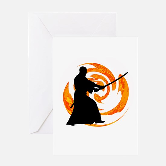SAMURAI Greeting Cards