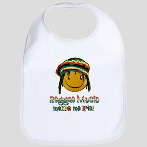 Reggae music makes me Irie! Bib