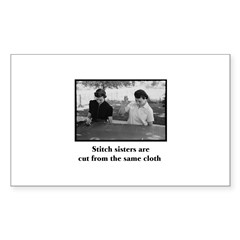 Stitch Sisters - Cut From the Rectangle Decal