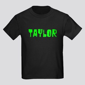 Taylor Faded (Green) Kids Dark T-Shirt